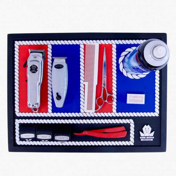 Product Image: King Midas Barber Station Mat (Red,White & Blue)